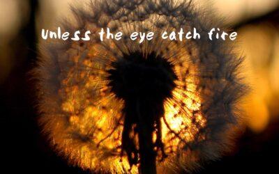 Unless the Eye Catch Fire